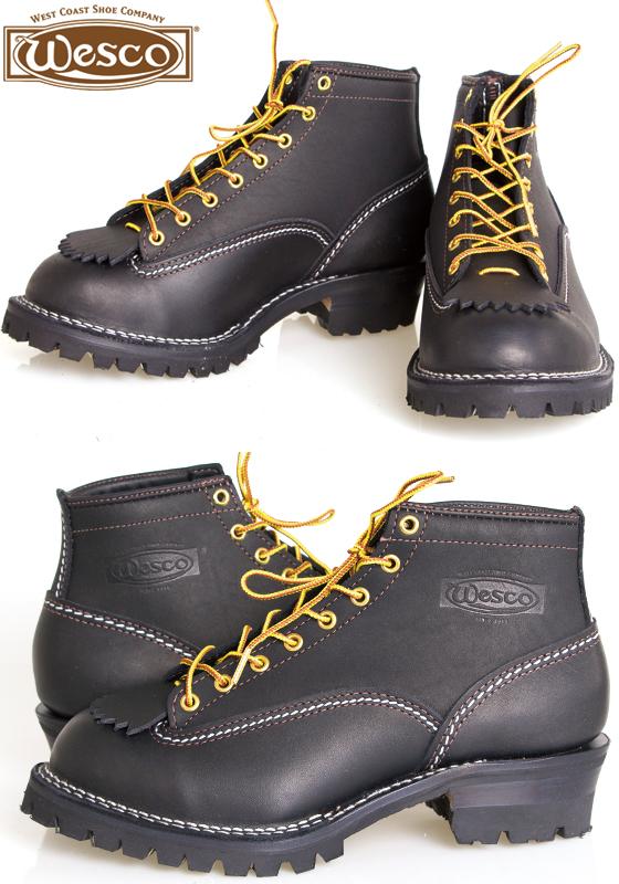 Wesco ウエスコ ジョブマスター Job Master 6インチ ブーツ BLACK