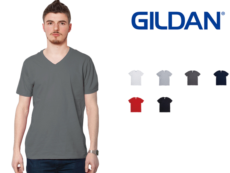 ae6c4ff9 Gildan GILDAN V Neck T shirt mens color S ~ XL size #64v00 Softstyle 4.5 ...