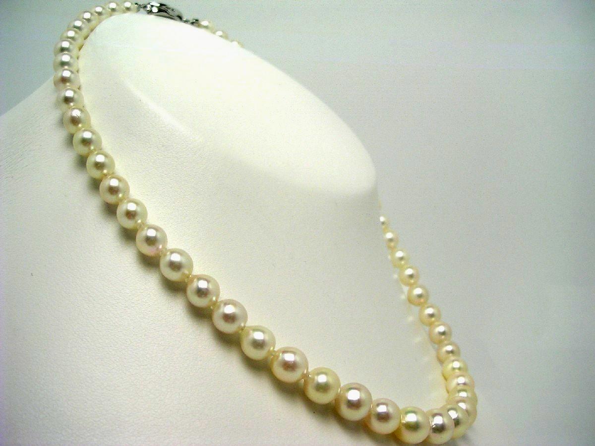 真珠 ネックレス パール アコヤ真珠 グラディエーション 6.0-8.0mm ホワイトピンク シルバー クラスップ 59955 イソワパール