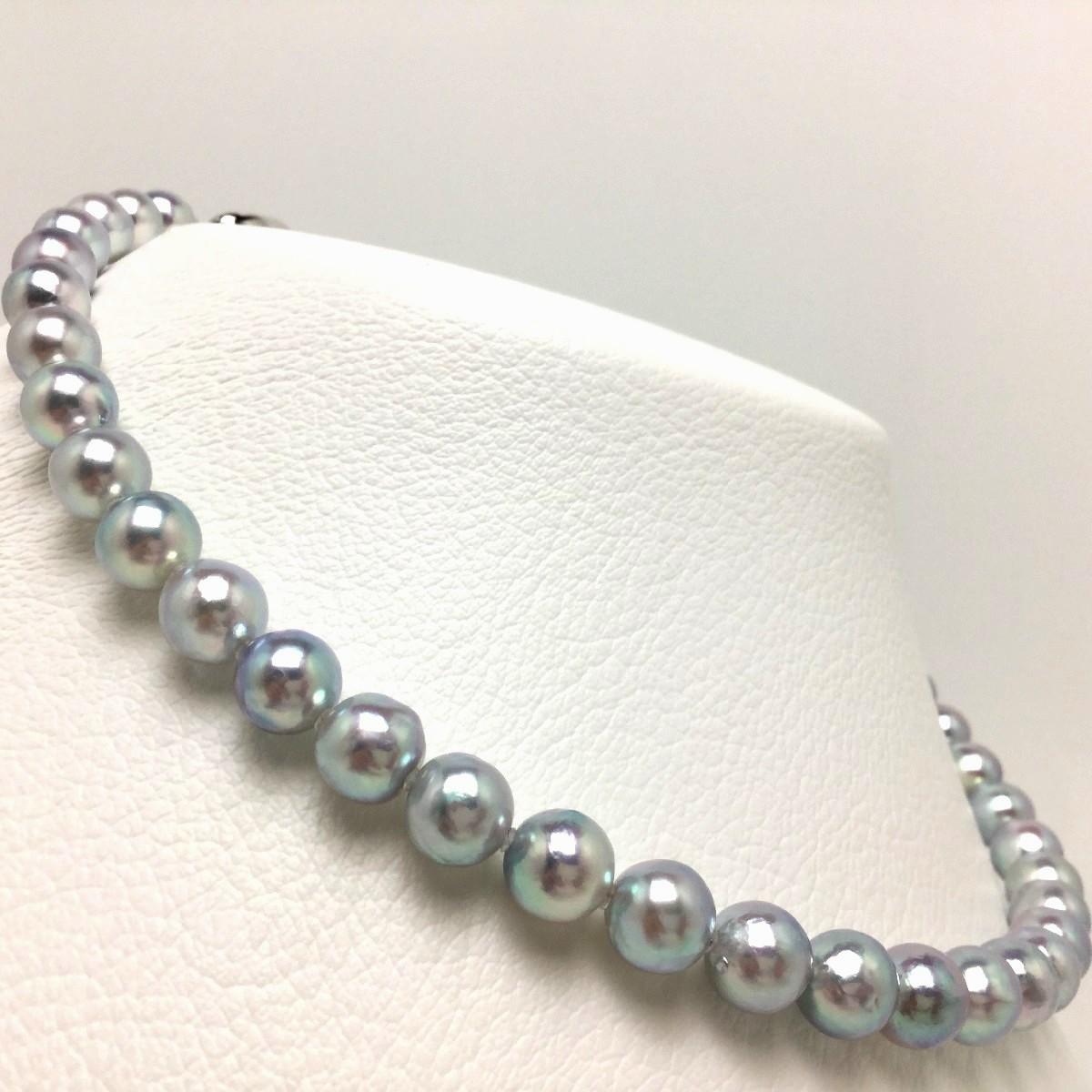 【10%OFF】真珠 ネックレス パール ナチュラルカラー アコヤ真珠 8.5-9.0mm セミバロック シルバー クラスップ 66370 イソワパール