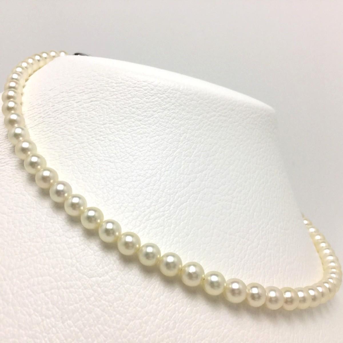 真珠 ネックレス パール アコヤ真珠 6.0-6.5mm シャンパンホワイト(無調色) シルバー クラスップ 67197 イソワパール