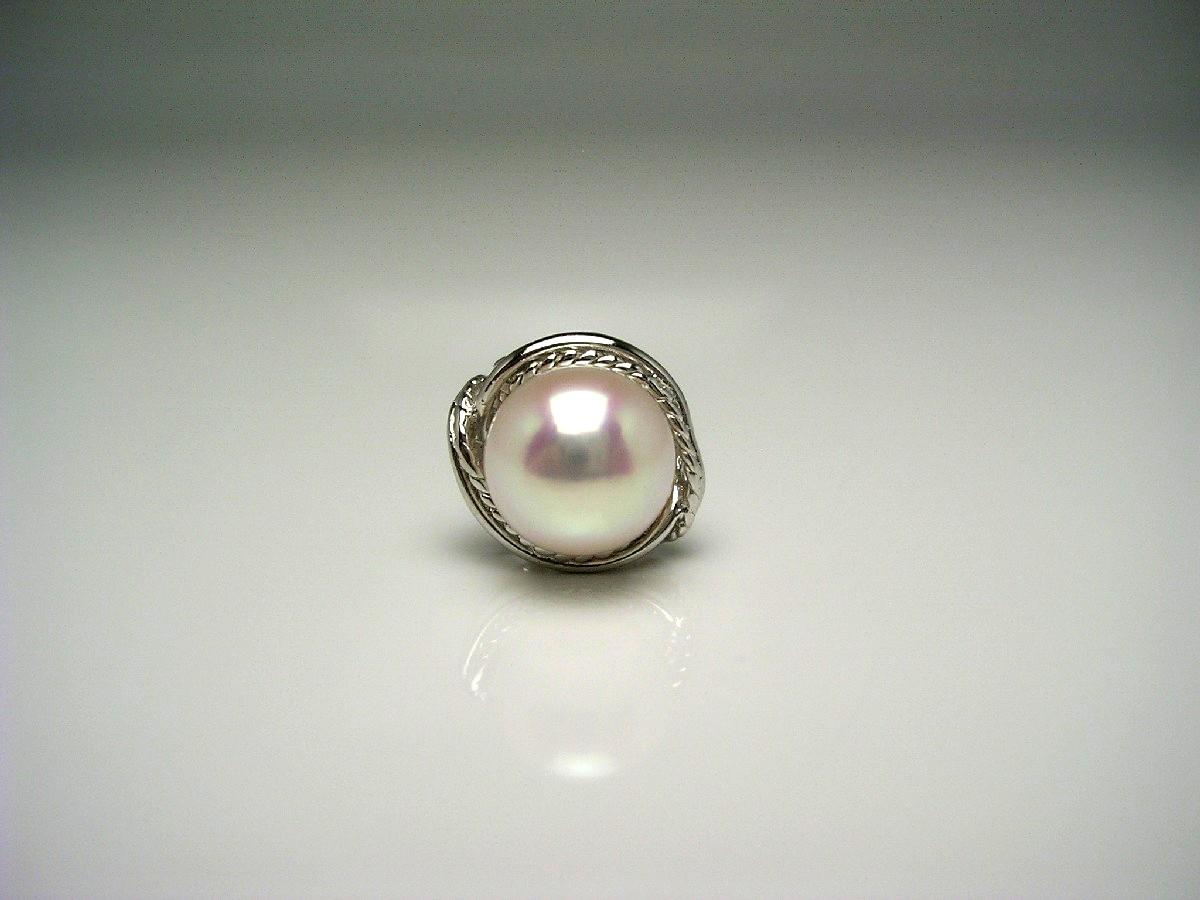 真珠 ネクタイピン パール アコヤ真珠 9.2mm ホワイトピンク シルバー 56971 イソワパール
