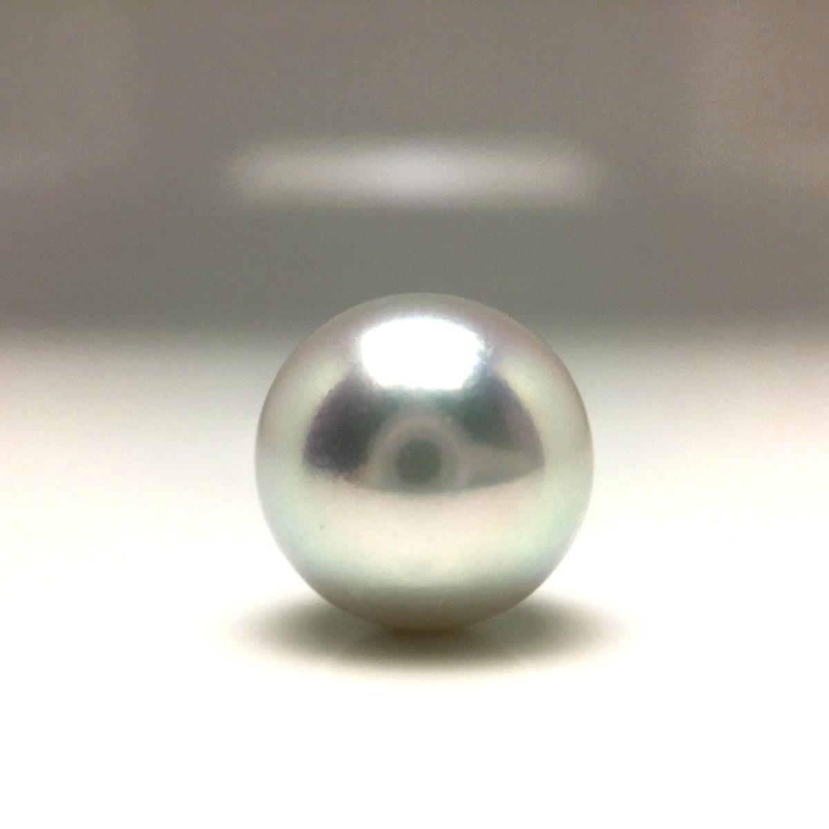 真珠 ネクタイピン パール アコヤ真珠 9.13mm ホワイトシルバーブルー(ナチュラル) Pt900 プラチナ 66508 イソワパール