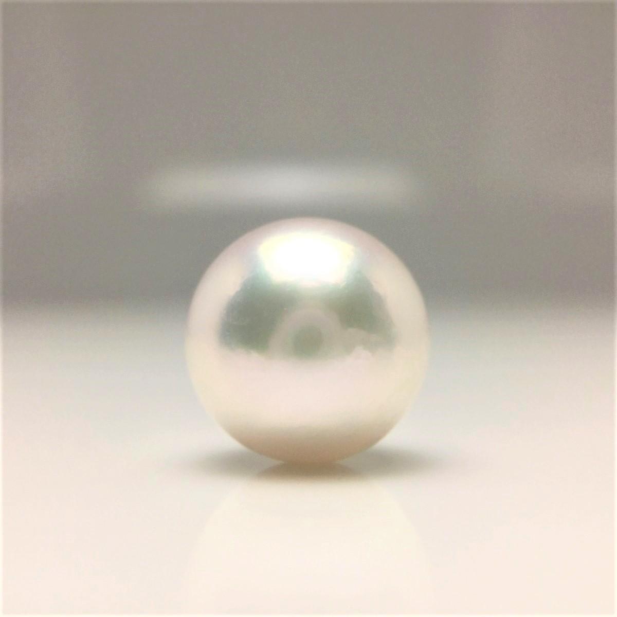 真珠 ネクタイピン パール アコヤ真珠 9.47mm ホワイトピンク Pt900 プラチナ 針 66796 イソワパール