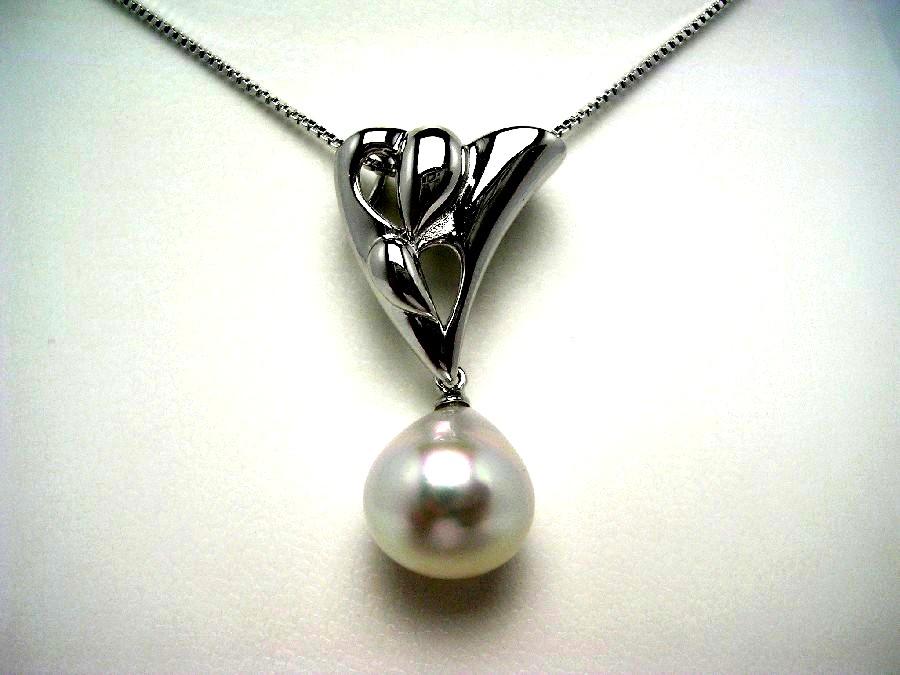 真珠 ペンダント パール 母の日 白蝶真珠 11.47mm ホワイト シルバー 50076 イソワパール