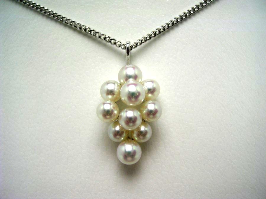 真珠 ペンダントトップ パール 母の日 アコヤ真珠 3.5-4.5mm ホワイトピンク K18 ホワイトゴールド 果物 52916 イソワパール