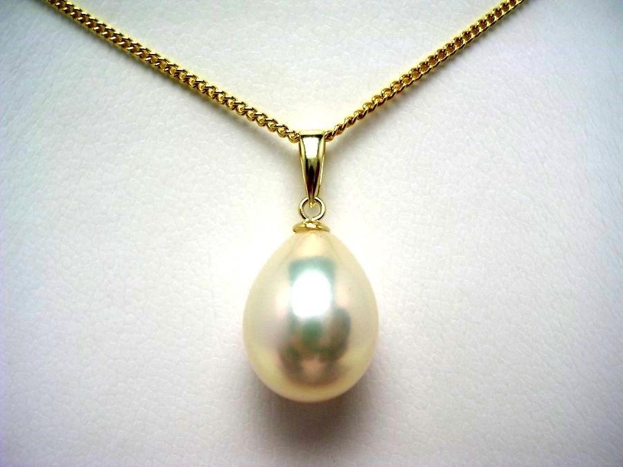 真珠 ペンダントトップ パール 淡水真珠 10.3×13.6mm シルバーホワイトピンク K18 イエローゴールド 53726 イソワパール