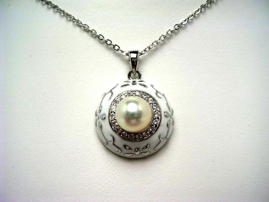 【10%OFF】真珠 ペンダント パール アコヤ真珠 7.5-8.0mm ホワイトピンク シルバー 56377 イソワパール