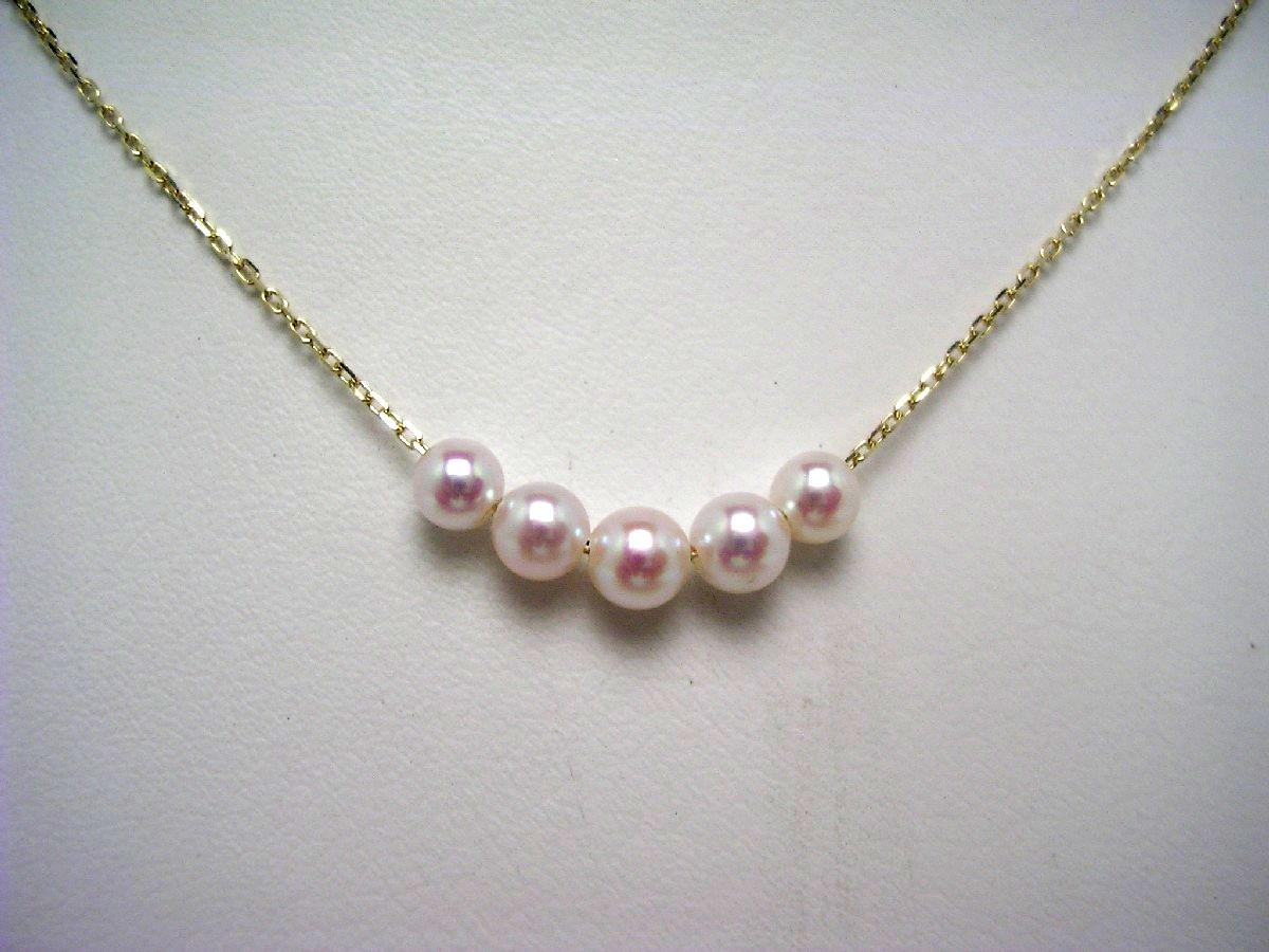 【10%OFF】真珠 ペンダント パール アコヤ真珠 4-4.5mm ホワイトピンク K10 イエローゴールド チェーン 60161 イソワパール