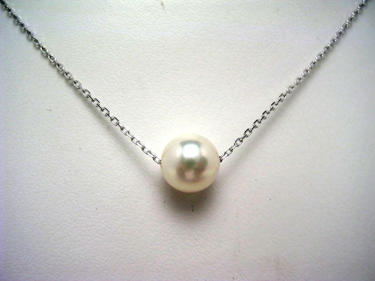【10%OFF】真珠 ペンダント パール アコヤ真珠 6.5-7mm ホワイトピンク K14 ホワイトゴールド チェーン 62563 イソワパール