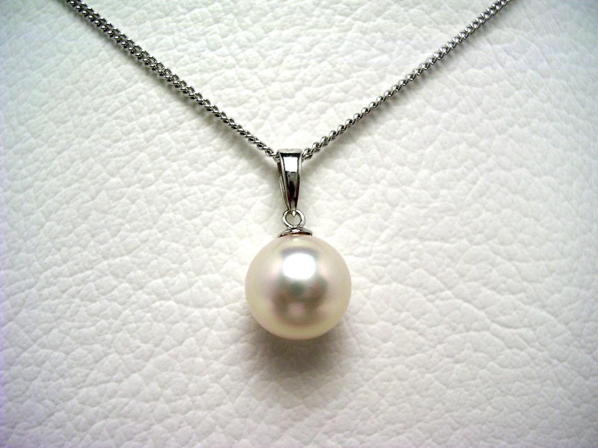 【10%OFF】真珠 ペンダントトップ パール アコヤ真珠 8.95mm ホワイトピンク K14 ホワイトゴールド 62965 イソワパール