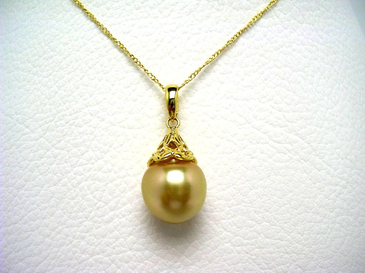 【10%OFF】真珠 ペンダント パール 白蝶真珠 11.5mm ゴールド(ナチュラル) シルバー 64582 イソワパール
