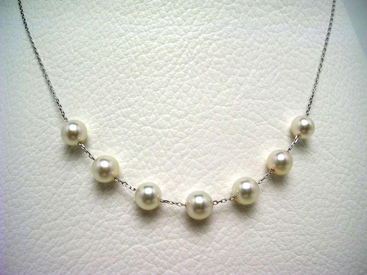 真珠 ペンダント パール アコヤ真珠 5.5-6.0mm ホワイトピンク K14 ホワイトゴールド チェーン 64804 イソワパール
