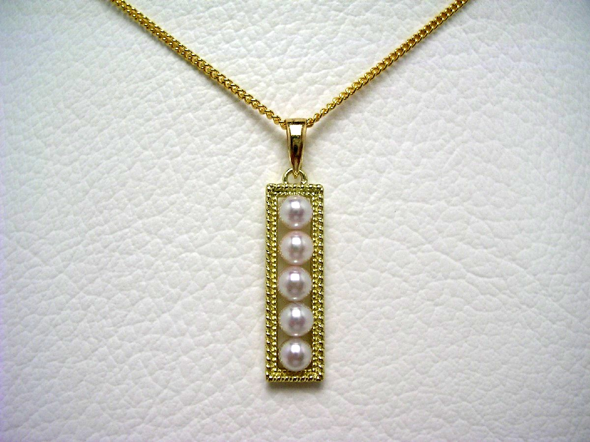 真珠 ペンダントトップ パール アコヤ真珠 3.4mm ホワイトピンク K18 イエローゴールド 64847 イソワパール