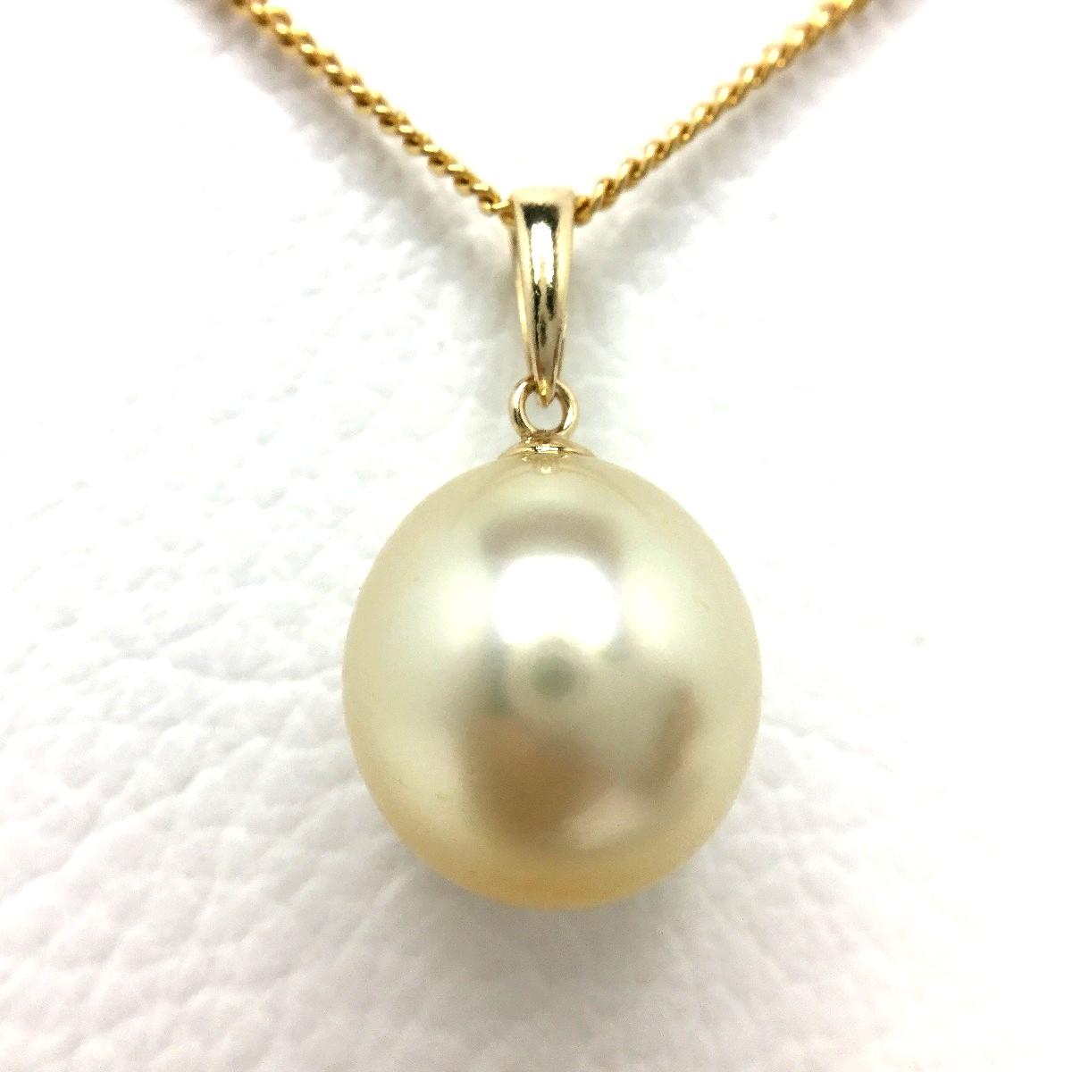 真珠 ペンダントトップ パール 白蝶真珠 11.6mm ゴールド K18 イエローゴールド 66204 イソワパール