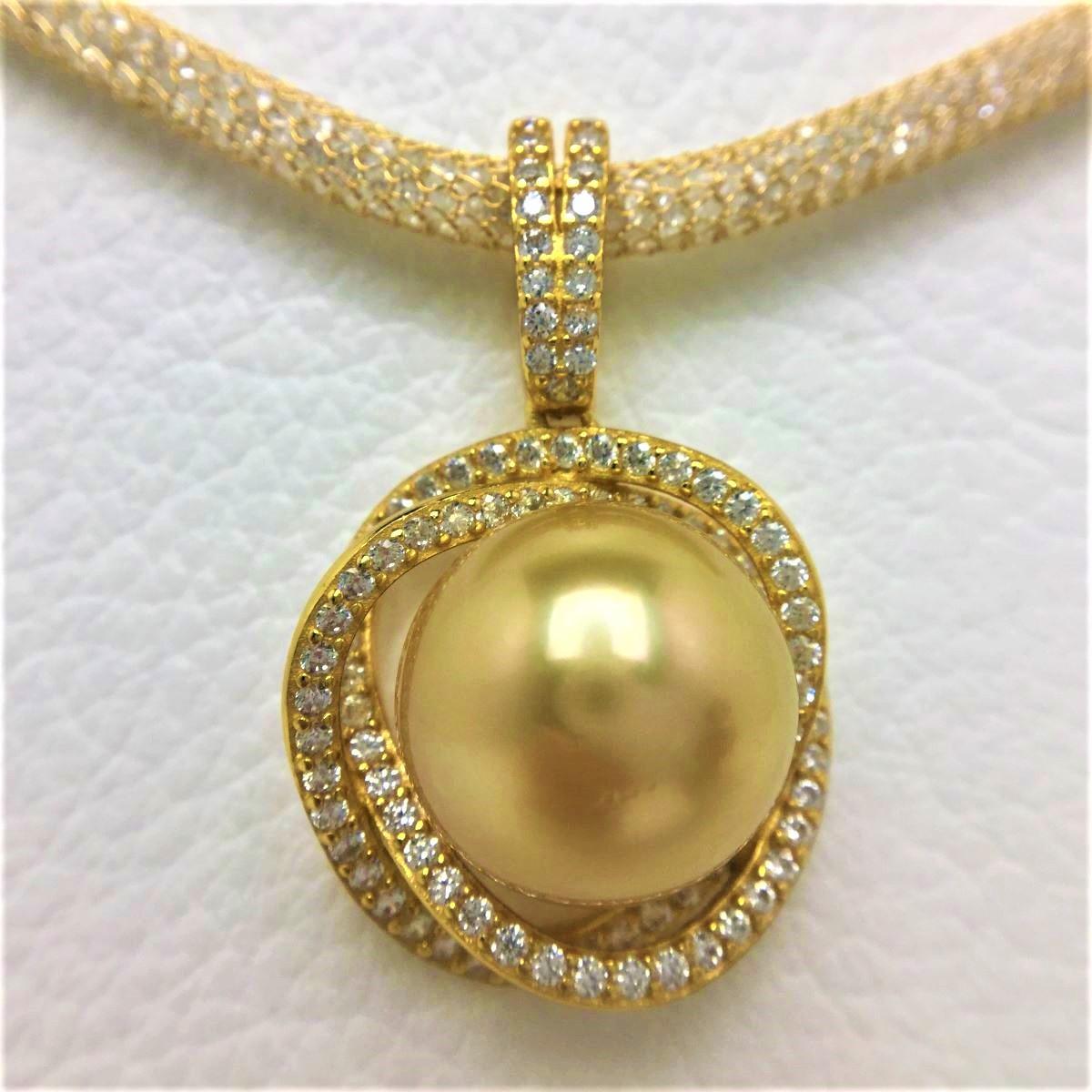 【10%OFF】真珠 ペンダント パール 白蝶真珠 12.83mm ゴールド(ナチュラル) シルバー 66982 イソワパール