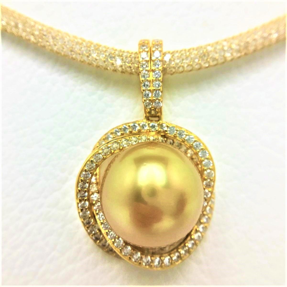 真珠 ペンダント パール 白蝶真珠 13.05mm ゴールド(ナチュラル) シルバー 66983 イソワパール