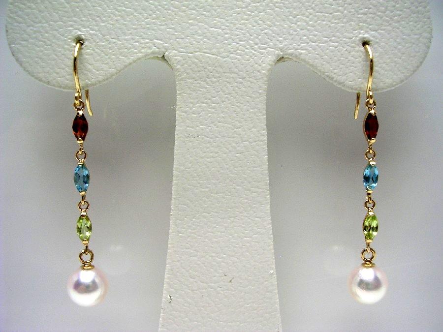 真珠 ピアス パール アコヤ真珠 フック 5.75-6mm ホワイトピンク K18 イエローゴールド 天然石 54833 イソワパール