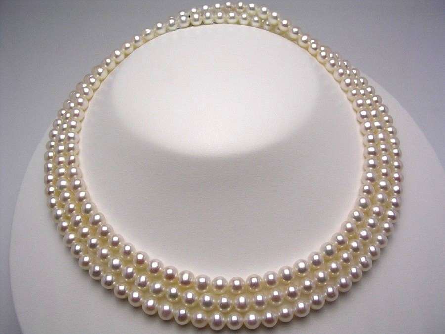 真珠 ネックレス パール 淡水真珠 ロング 5.5-6.0mm ホワイトピンク シルバー クラスップ 40737 イソワパール