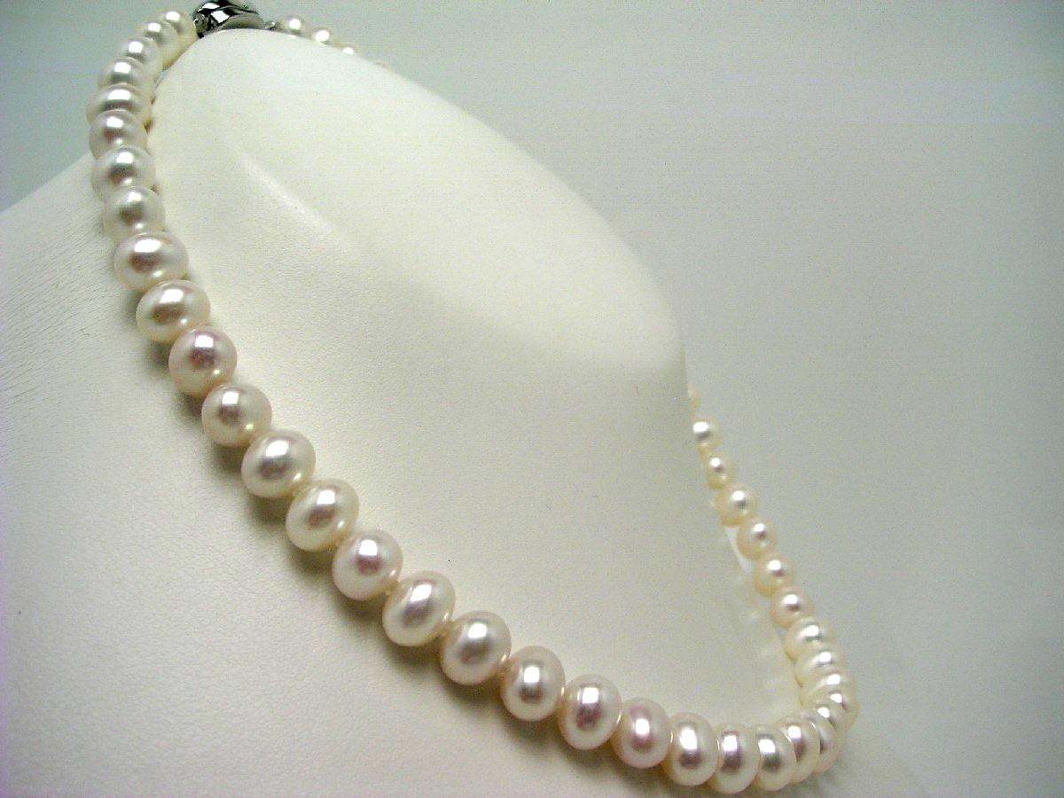 【10%OFF】真珠 ネックレス パール 淡水真珠 7.5-8.0mm ホワイト シルバー クラスップ 62594 イソワパール