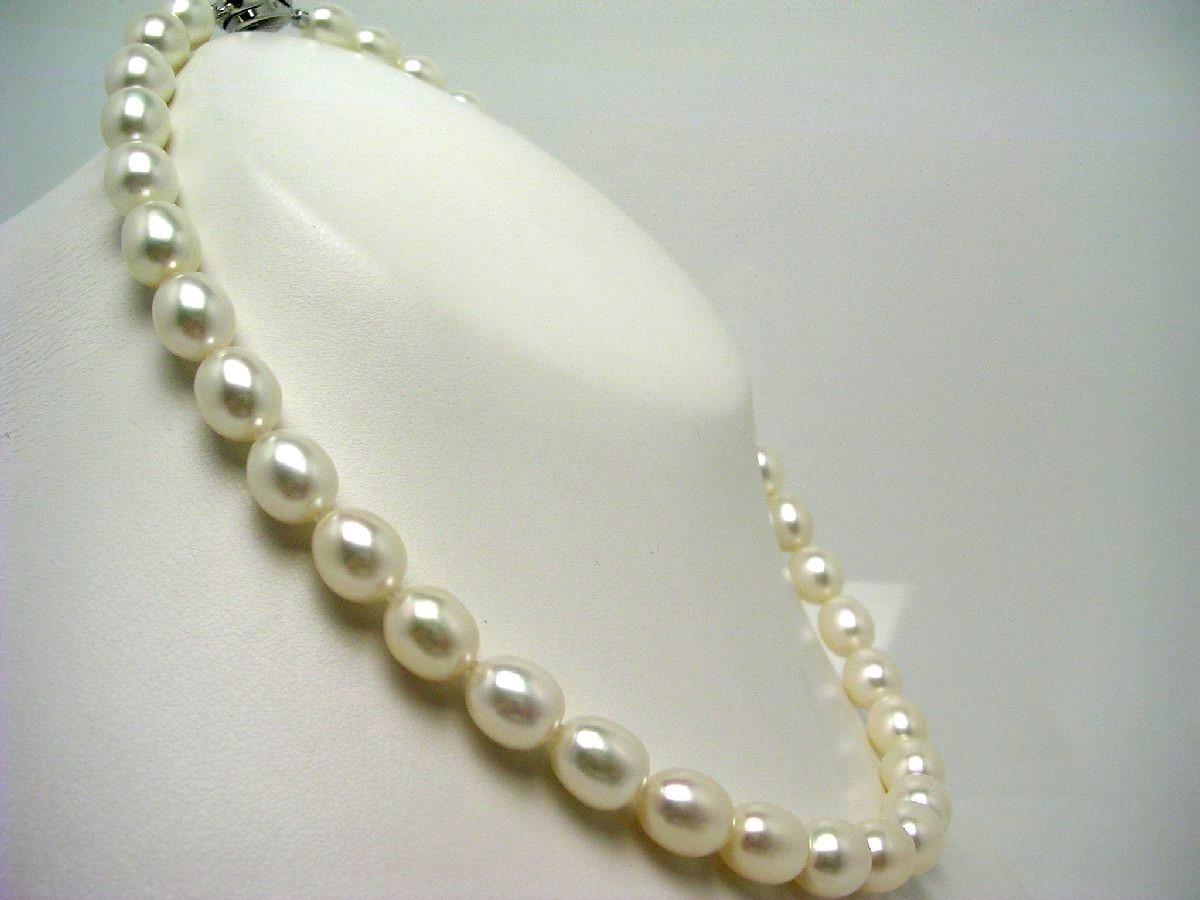 真珠 ネックレス パール 淡水真珠 8.5-9.5mm ホワイト シルバー クラスップ 62599 イソワパール