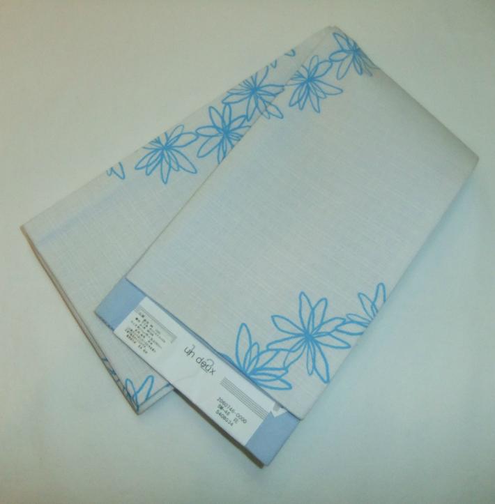 浴衣用半幅帯 un deux 半巾帯 花 巾約17cm×長さ380cm
