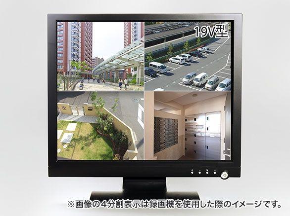 RD-4669 HDMI対応 CCTV LCD 19インチ監視用モニター VGN/BNC対応