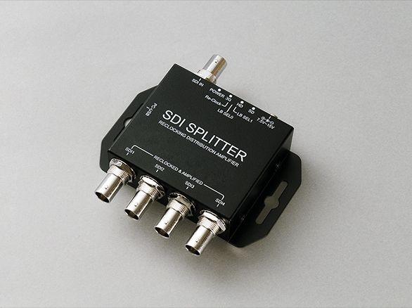 防犯カメラ 監視カメラ HD-SDIカメラ 専用 映像 音声 4分配器 【IS-4057】周辺機器 分配 4台 LEDインジケーター レコーダー 録画機 接続 3C-2V 5C-2V
