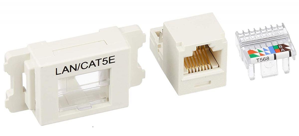 Cat5e JISプレート用ジャックキット オフホワイト JASSP58IWY-10 10個入り 期間限定お試し価格 新作からSALEアイテム等お得な商品満載