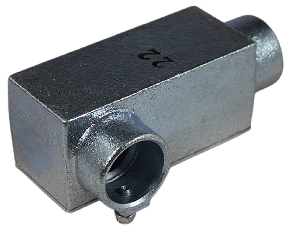ねじなしTCユニバーサル ケーブル工事用 休み 厚鋼用 LL形 与え TCULZ22 溶融亜鉛めっき