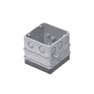 四角PCボックス 鉄塗代カバー付 75mm用 丸型 10個価格 4CBL-T1175A