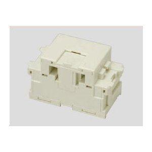 埋込モジュラージャック コンデンサー内蔵形 6極4心用(10個入)ピュアホワイト JEC-BN-WUJ4CPW