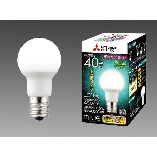 LED電球 全方向タイプ 小型電球40W形 E17 昼白色 10個セット LDA4N-G-E17/40/S-PS-10