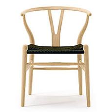 Yチェア (オーク材 座面ブラック ソープ塗装) Yチェア ハンス・J・ウェグナー 椅子 チェア カールハンセン ダイニングチェア