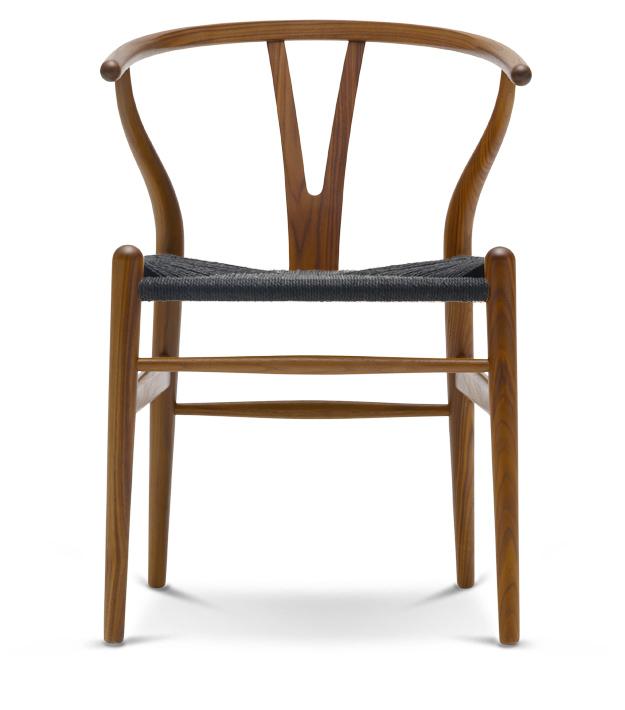 Yチェア (ウォールナット材 座面ブラック オイル塗装) Yチェア ハンス・J・ウェグナー 椅子 チェア カールハンセン ダイニングチェア