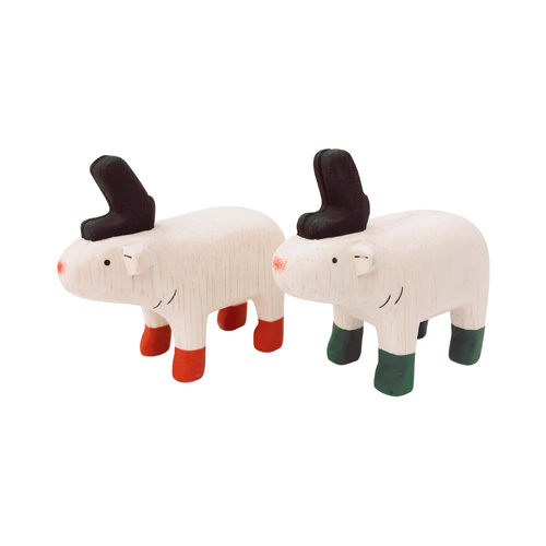 クリスマスも ぽれぽれと一緒 クリスマス仕様になりました ぽれぽれ動物 トナカイ メーカー直送 クリスマス 売店 赤 ぽれぽれ 緑 木製人形