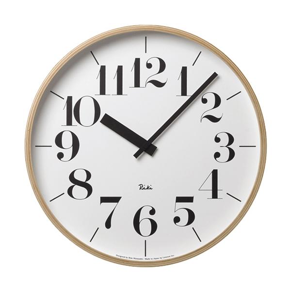 壁掛け時計 おしゃれ 北欧 レムノス リキクロック 時計 壁掛け時計 壁掛け シンプル シャープ 時間 ウォールクロック 時 人気 有名 渡辺力 デザイナーズ オススメ タカタレムノス RIKI CLOCK / L WR-0401L 239-00015 キャッシュレス 還元