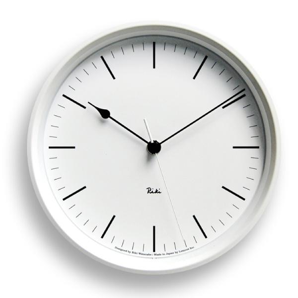 【合計3980円以上ご購入で送料無料】 時計 置き時計 掛け時計 雑貨 プレゼント インテリア デザイン オシャレ シンプル 可愛い カフェ リビング ダイニング 寝室 ベッドルーム RIKI STEEL CLOCK[電波時計] WR08-24 / ホワイト 白 239-00239