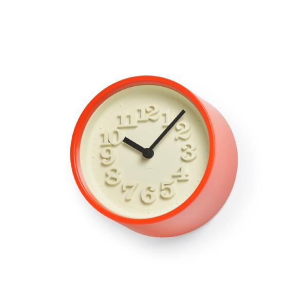 【マラソン中 PO最大44倍】【合計3980円以上ご購入で送料無料】 時計 置き時計 掛け時計 雑貨 プレゼント インテリア デザイン オシャレ シンプル 可愛い カフェ リビング ダイニング 寝室 ベッドルーム 小さな時計 / レッド 赤 239-00247 在宅勤務 テレワーク 在宅ワーク