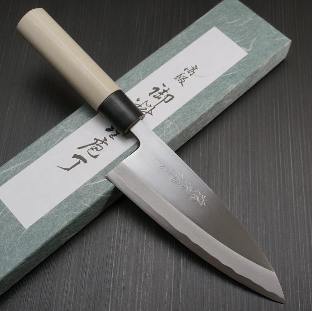包丁 出刃 165mm 藤次郎 藤次郎作 安来鋼白紙2号 鍛造 朴木柄 業務用 本職用 プロ用 噛み付くような切れ味