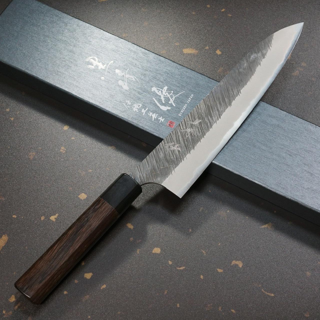 包丁 牛刀 210mm 黒崎優 青紙スーパー 風神 伝統工芸士 鍛造 7寸 TVで放送 日本製