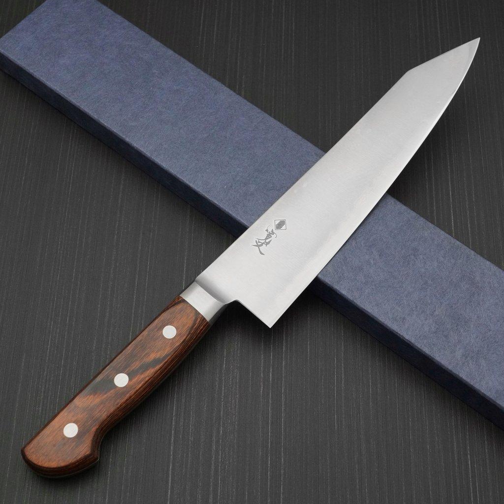 プロ仕様 HAP40 関市 粉末ハイス 切付牛刀 210mm 本刃付け 包丁 日本製 寛丈 口金付き