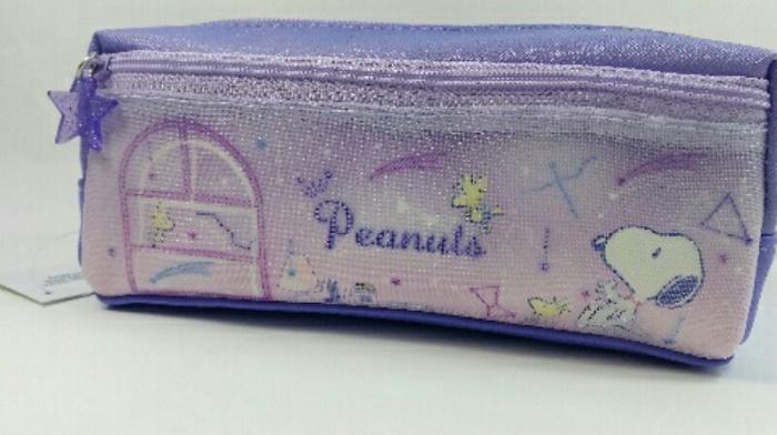 最安値挑戦 ボックス タイプ 女の子 ついに再販開始 向け 外側にメッシュポケットがあるので小物を入れられます メッシュ BOX 小学生女子向き スヌーピー ペンポーチ クラックス ピーナッツ ペンケース 筆箱