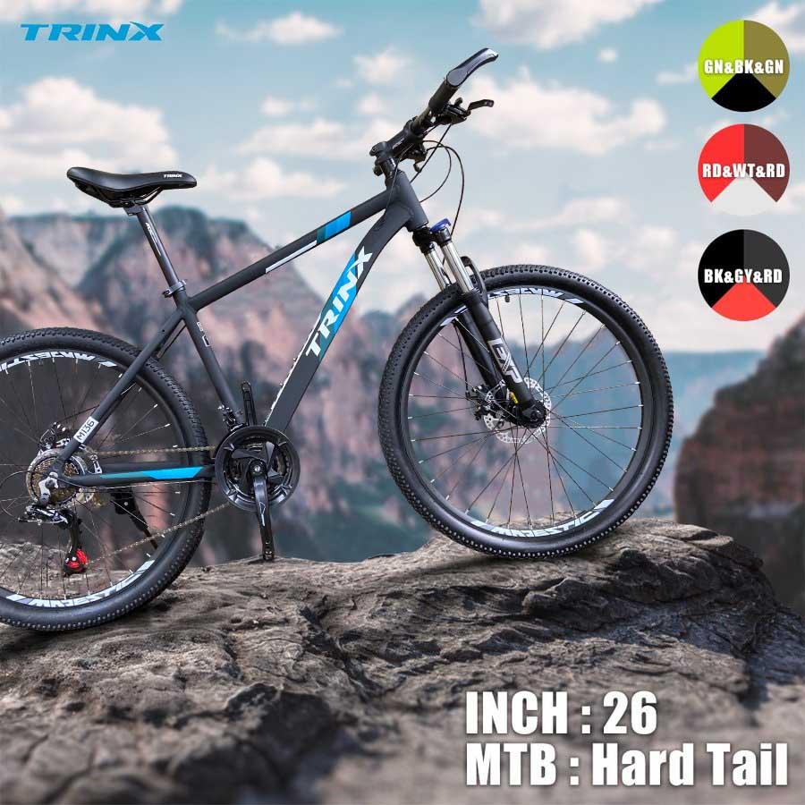 スーパーSALE限定TRINX M136-18ダブルディスクSHIMANO21SPEED超軽量アルミAL6061マウンテンバイク26インチハードテール