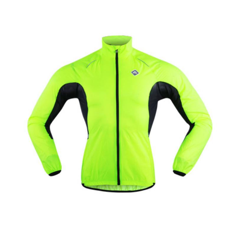 防水サイクルジャケット レインコート 蛍光グリーン スポーツ SOBIKE【雨対策】レインコート