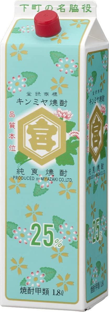 甲類焼酎 25度 金宮 パック 1.8L 6本 2ケース キンミヤ焼酎 1800ml × 12本