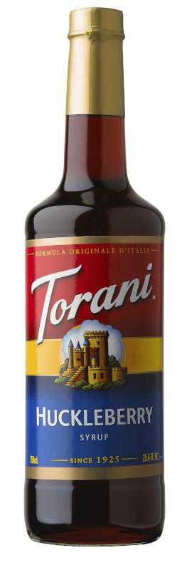 トラーニ torani  フレーバーシロップ ハックルベリー 750ml 1本 flavored syrop 東洋ベバレッジ
