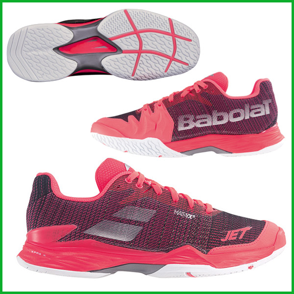 《送料無料》2018年発売 Babolat ジェット マッハ2オールコートW ウィメンズ BAS18630 バボラ テニスシューズ オールコート用