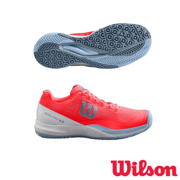 《送料無料》2019年2月発売 WILSON RUSH PRO 3.0 OC レディース ラッシュ・プロ WRS325660U ウィルソン テニスシューズ オムニコート用