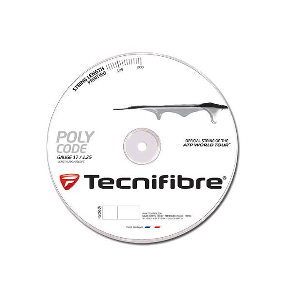 《送料無料》Tecnifibre POLY CODE 1.30mm TFR512 テクニファイバー 硬式テニス ストリング ロールガット